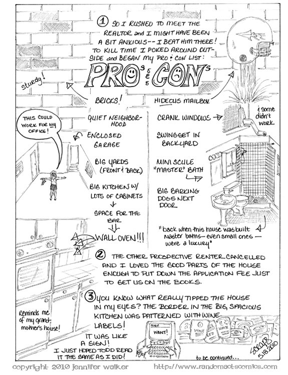 Pros and Cons on the first house I looked at